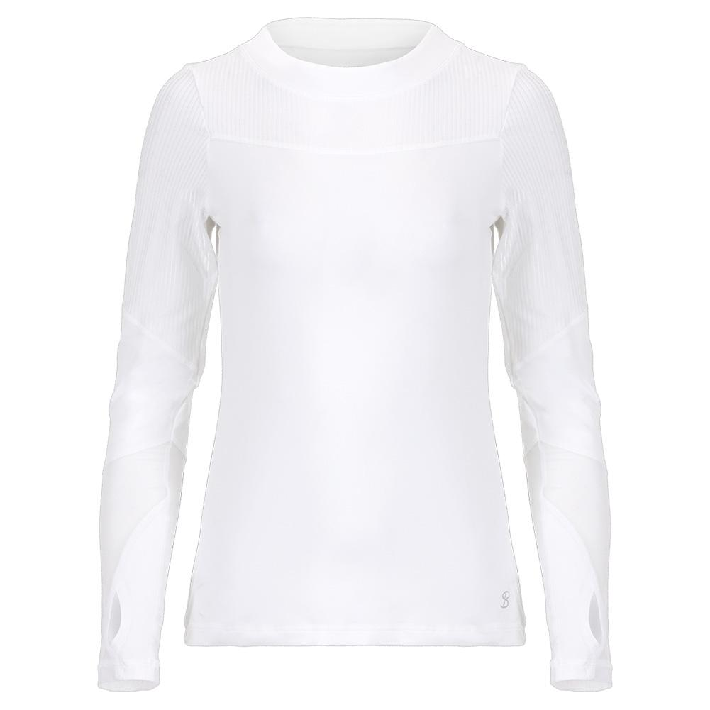 Women's Long Sleeve Tennis Top White And Blanc