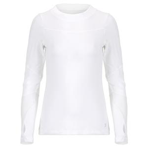 Women`s Long Sleeve Tennis Top White and Blanc