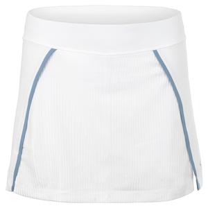 Women`s 14 Inch Tennis Skort White and Patagonia