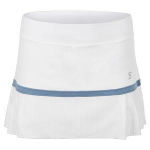 Women`s 13 Inch Tennis Skort White and Patagonia