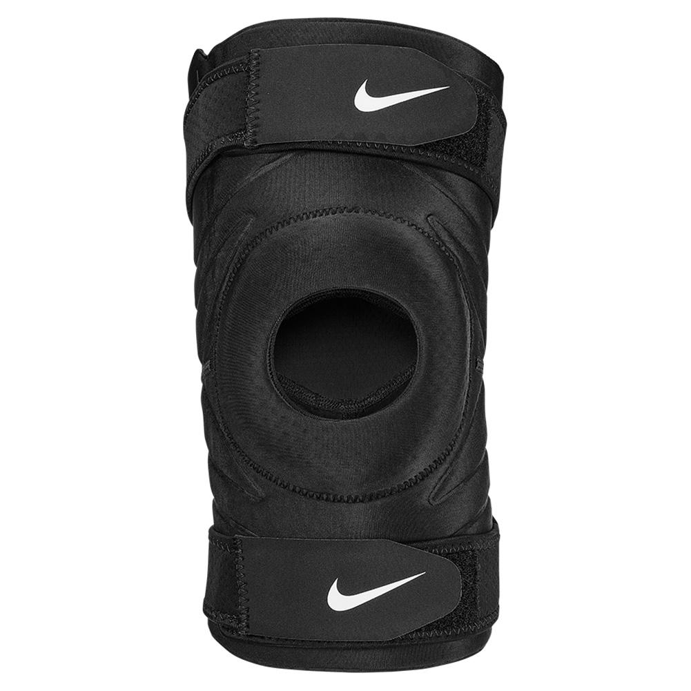 Pro Open Knee Sleeve With Strap Black And White