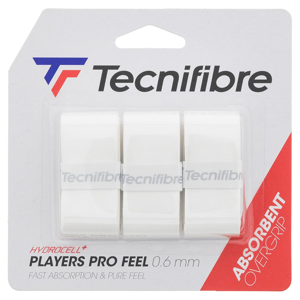 Players Pro Feel Tennis Overgrip 3 Pack White