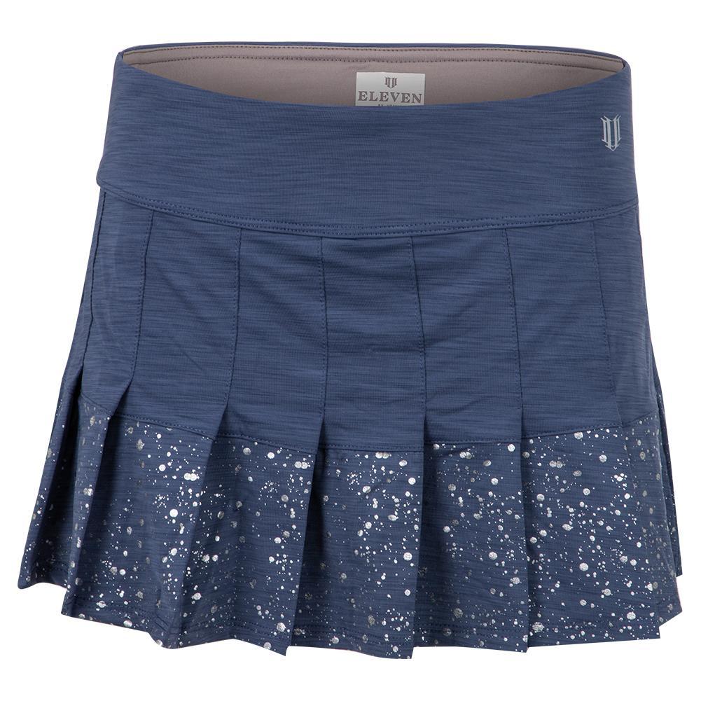Women's Border Flutter 13 Inch Tennis Skort Cloudy Indigo