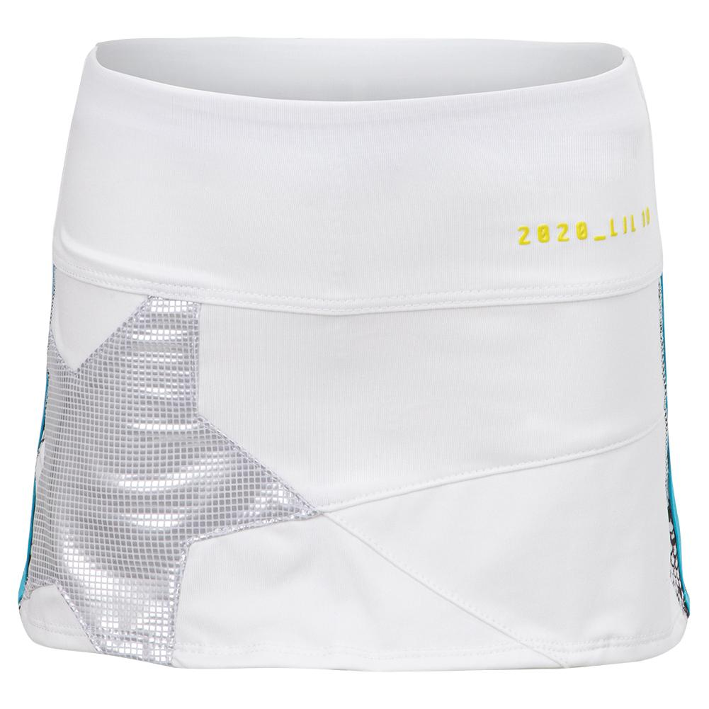 Girls ` Mini Shining Star Tennis Skort White And Iridescence