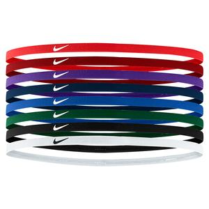 Skinny Hairbands 8 Pack University and Team Red