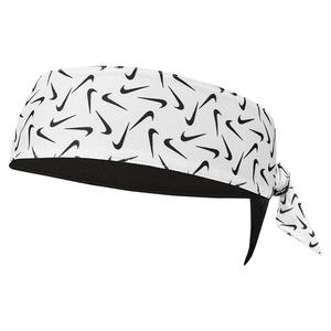 Reversible Printed Dri-FIT Head Tie 2.0 White and Black