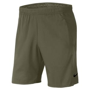 Men`s Court Dry 9 Inch Tennis Short Medium Olive