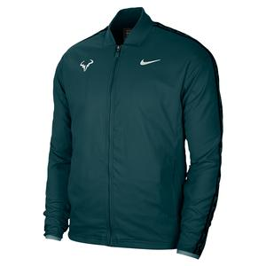 Men`s Rafa Court Tennis Jacket Dark Atomic Teal and White