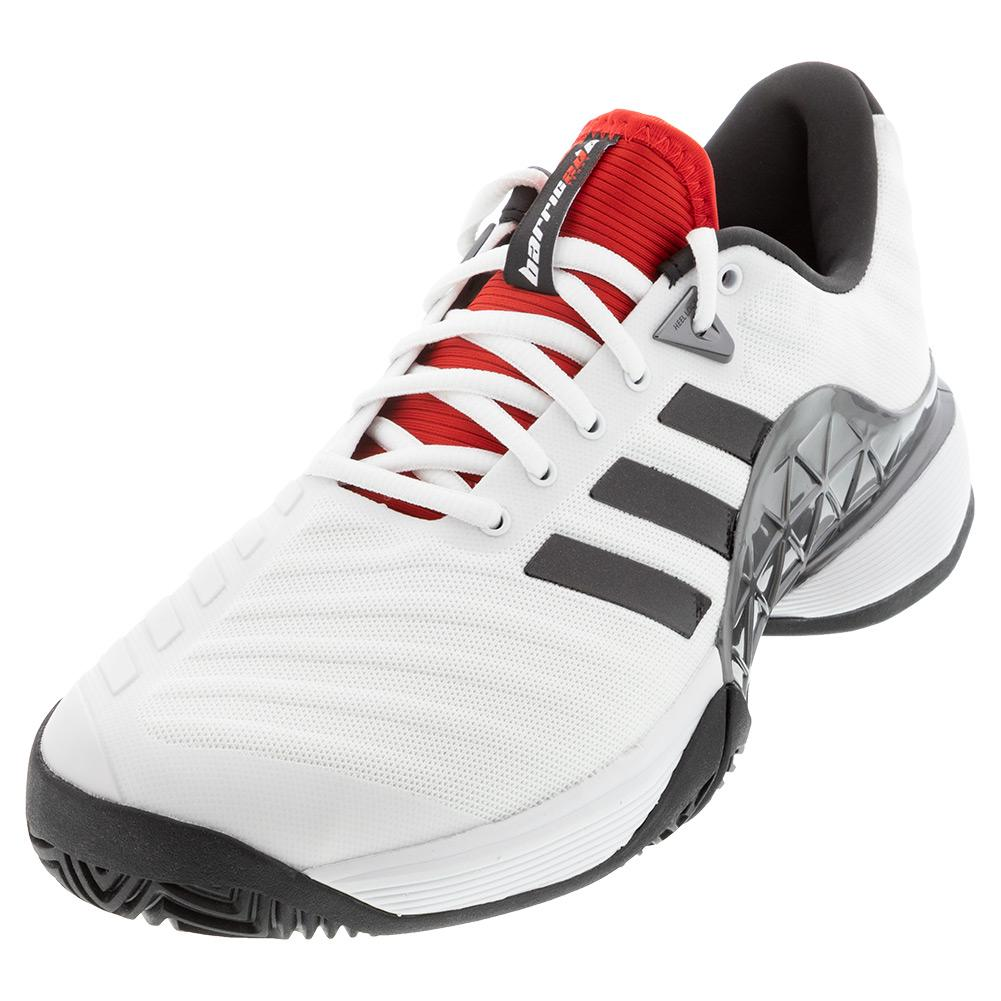 adidas Men`s Barricade 2018 Tennis Shoes White and Black ...