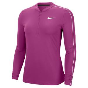 Women`s Court  Dry Long Sleeve Half Zip Tennis Top