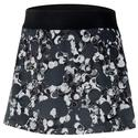 Women`s Court Dry Straight Printed Tennis Skort 011_BLACK/WT