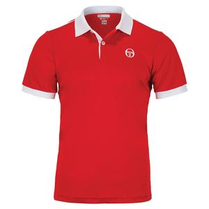 Men`s Young Line Pro Club Tech Tennis Polo Red and White