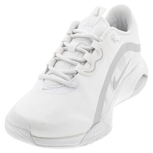 Women`s Air Max Volley Tennis Shoes White and Metallic Silver