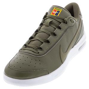 Men`s Court Air Max Vapor Wing Premium Tennis Shoes Medium Olive and White