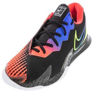 Men`s Court Air Zoom Vapor Cage 4 Tennis Shoes Black and Volt