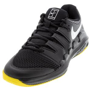 Juniors` Court Vapor X Tennis Shoes Black and White