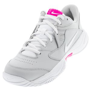 Women`s Court Lite 2 Tennis Shoes Grey Fog and White