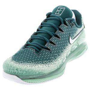 Women`s Court Air Zoom Vapor X Knit Tennis Shoes Healing Jade and White