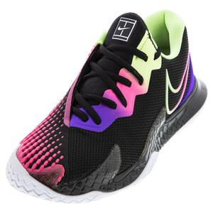 Women`s Court Air Zoom Vapor Cage 4 Tennis Shoes Black and Liquid Lime