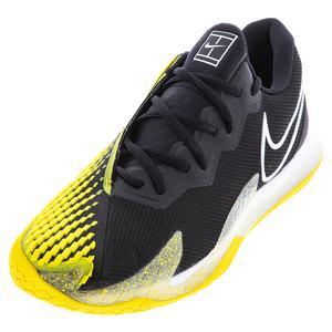 Men`s Court Air Zoom Vapor Cage 4 Tennis Shoes Black and White