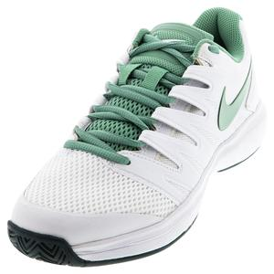 Women`s Court Air Zoom Prestige Tennis Shoes White and Healing Jade