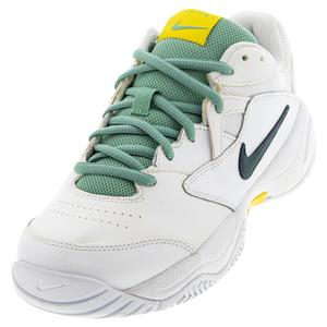 Women`s Court Lite 2 Tennis Shoes White and Dark Atomic Teal