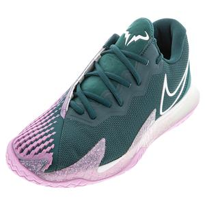 Men`s Court Air Zoom Vapor Cage 4 Tennis Shoes Dark Atomic Teal and White