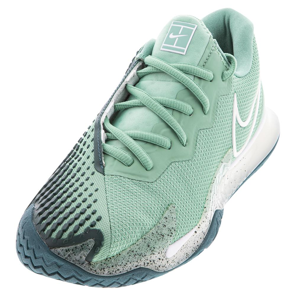 Women's Court Air Zoom Vapor Cage 4 Tennis Shoes Healing Jade And White