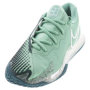 Women`s Court Air Zoom Vapor Cage 4 Tennis Shoes Healing Jade and White