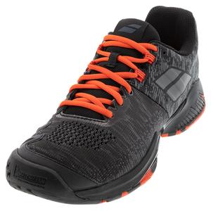 Men`s Propulse Blast All Court Tennis Shoes Black and Tomato Red