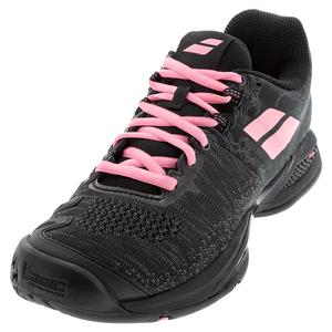 Women`s Propulse Blast All Court Tennis Shoes Black and Geranium Pink