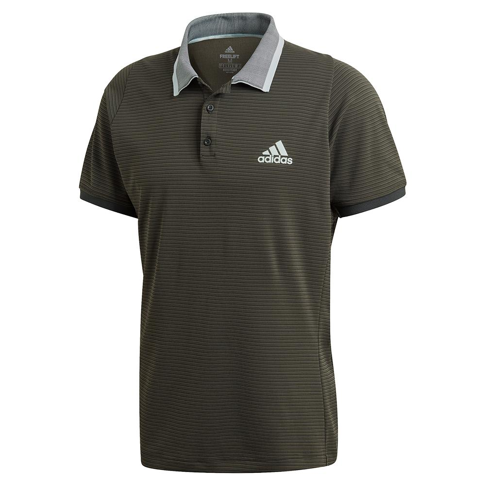 Men's Freelift Tennis Polo Legend Earth And Green Tint