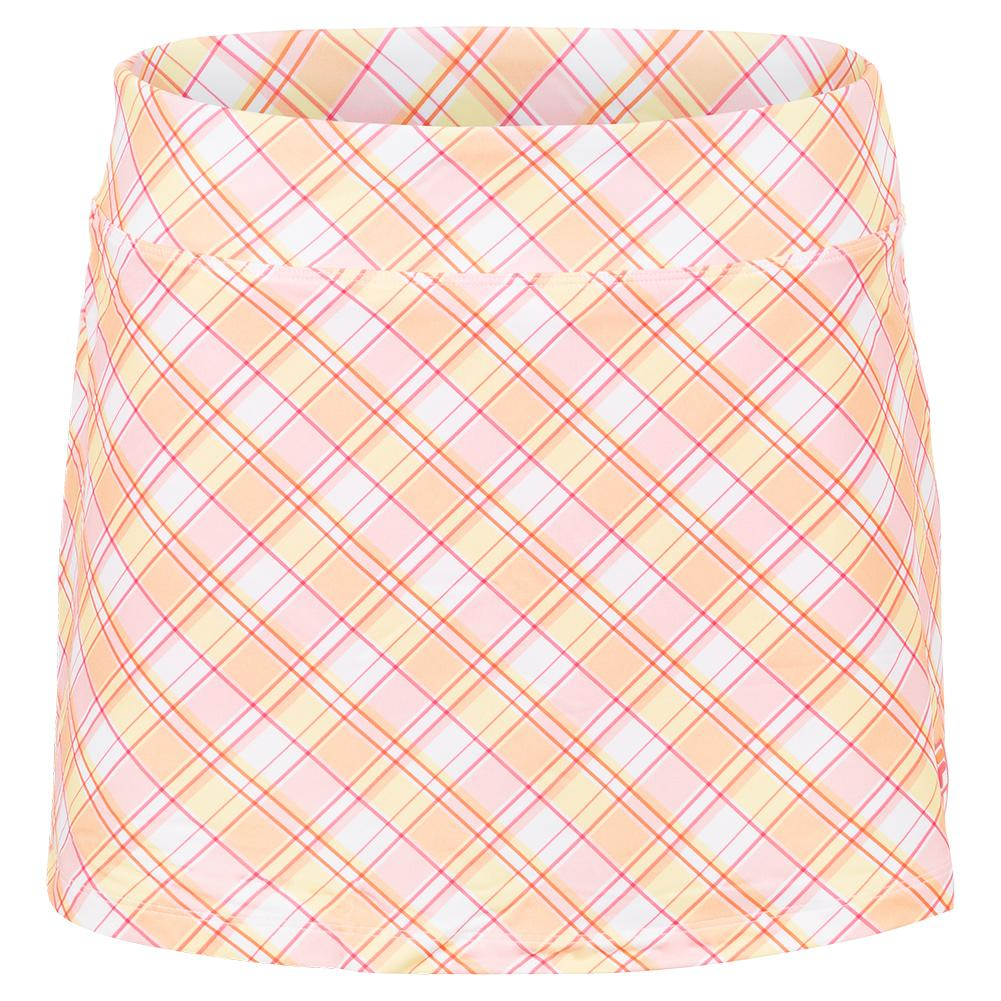 Women's Mad For Plaid Printed A- Line 13.5 Inch Tennis Skort