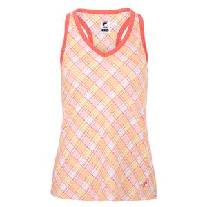 Women`s Mad for Plaid Printed Racerback Tennis Tank