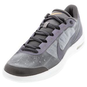 Men`s Court Air Max Vapor Wing MS Tennis Shoes MTLC Dark Grey and White