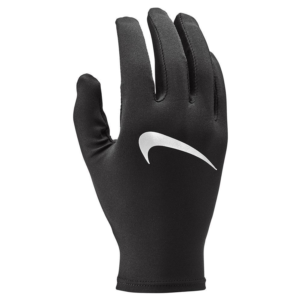 Unisex Miler Running Gloves Black And Silver