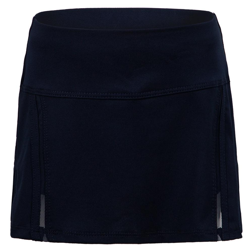 Girls ` Mini Inline Tennis Skort Midnight