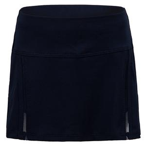 Girls` Mini Inline Tennis Skort Midnight