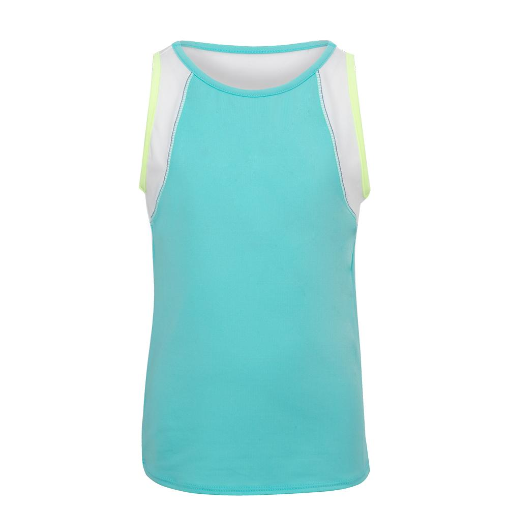 Girls ` Let It Be Tennis Tank Opal