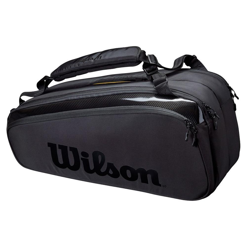 Super Tour 9 Pack Pro Staff Tennis Bag Black