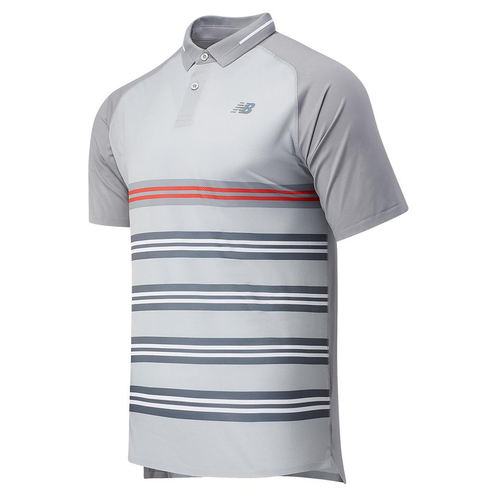 Men's Printed Tournament Tennis Polo Lead