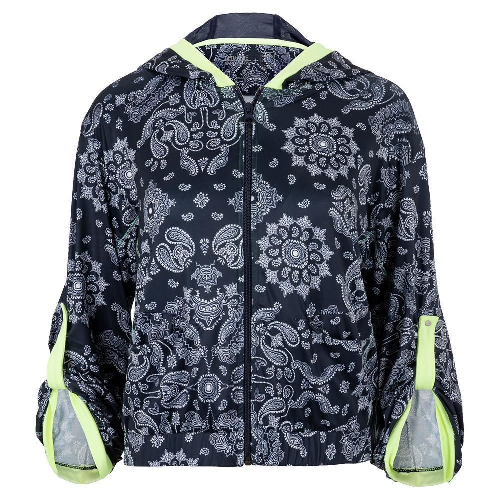 Women's Bandana Bell Sleeve Tennis Jacket Midnight