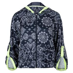 Women`s Bandana Bell Sleeve Tennis Jacket Midnight