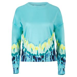 Women`s Psychedelic Long Sleeve Tennis Top Opal