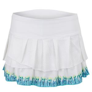 Women`s Let It Be Tennis Skort White and Opal