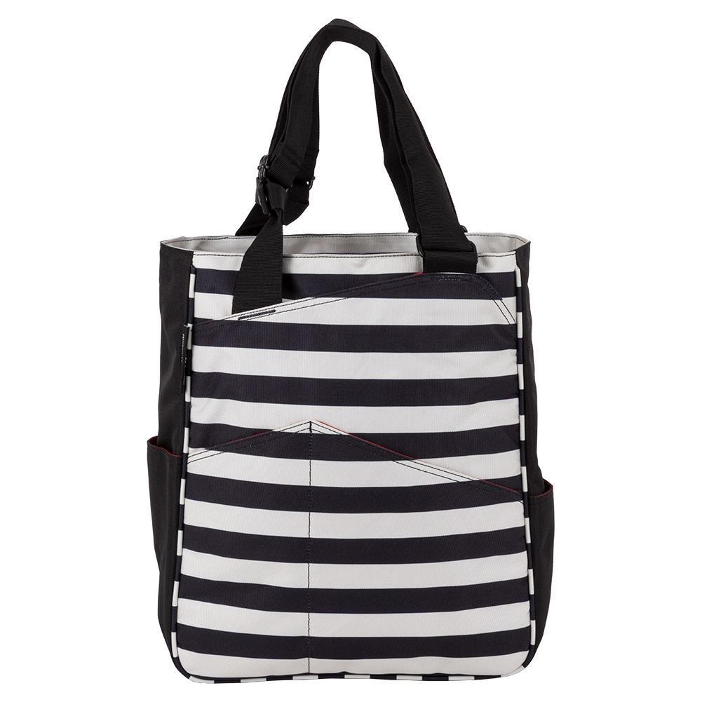 Women's Tennis Tote Stripes Black And Coconut