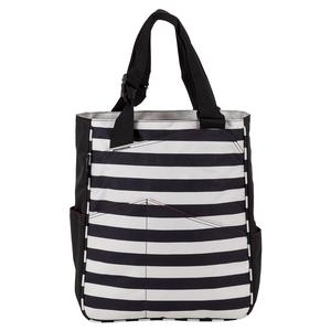 Women`s Tennis Tote Stripes Black and Coconut
