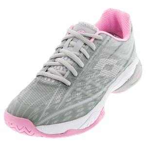 Women`s Mirage 300 Speed Tennis Shoes Silver Metal and All White