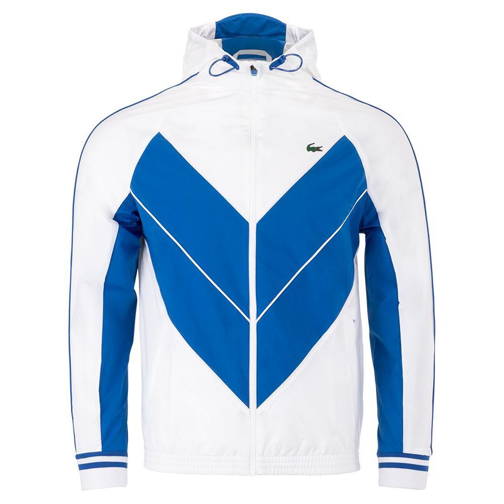 Lacoste Men S Novak Djokovic Blouson Tennis Jacket White And Marina Tennis Express