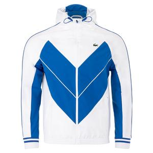 Men`s Novak Djokovic Blouson Tennis Jacket White and Marina